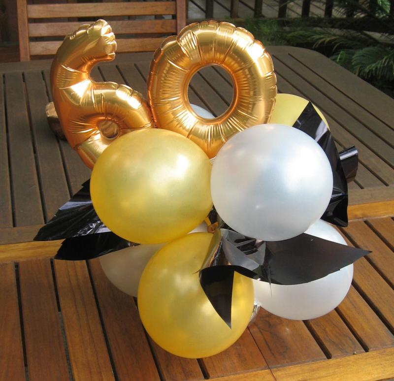 60th birthday table decorations ideas photograph balloon c for 60 birthday decoration party