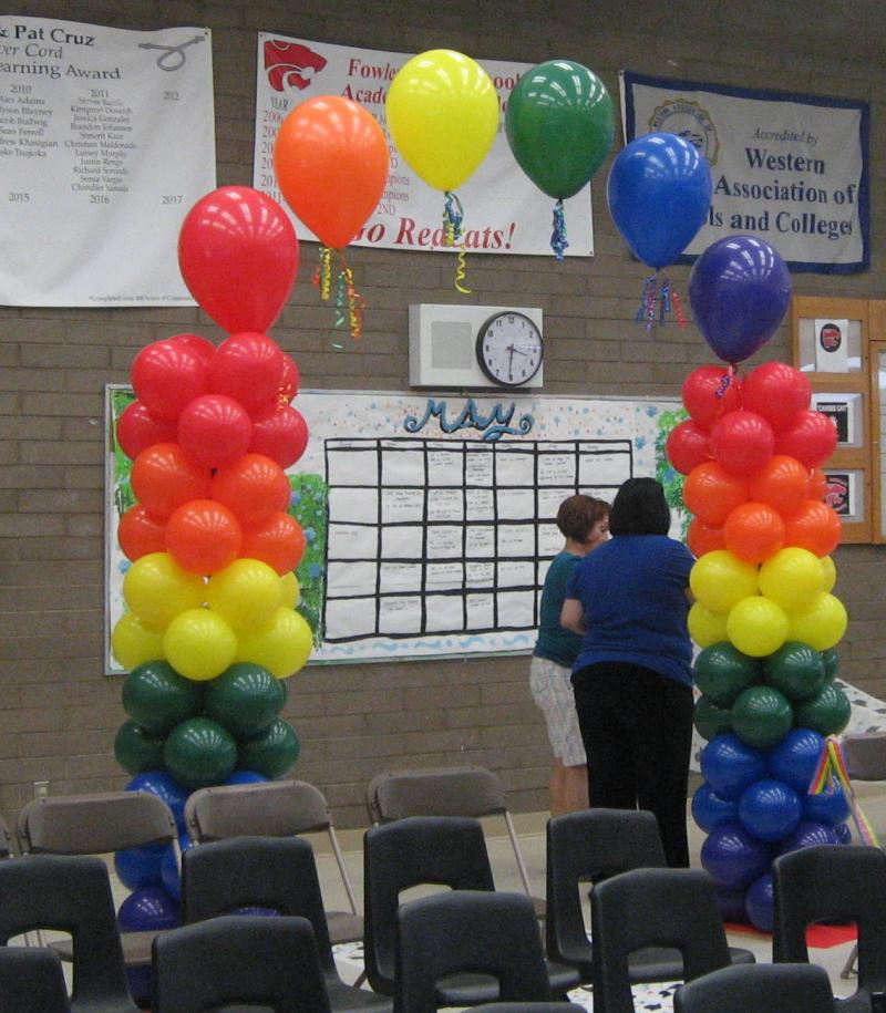 how to make an air filled balloon arch