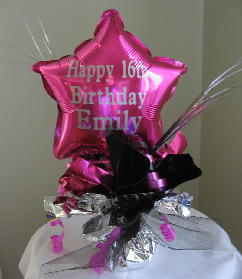 Birthday centerpieces party favors ideas for Birthday balloon centerpiece ideas