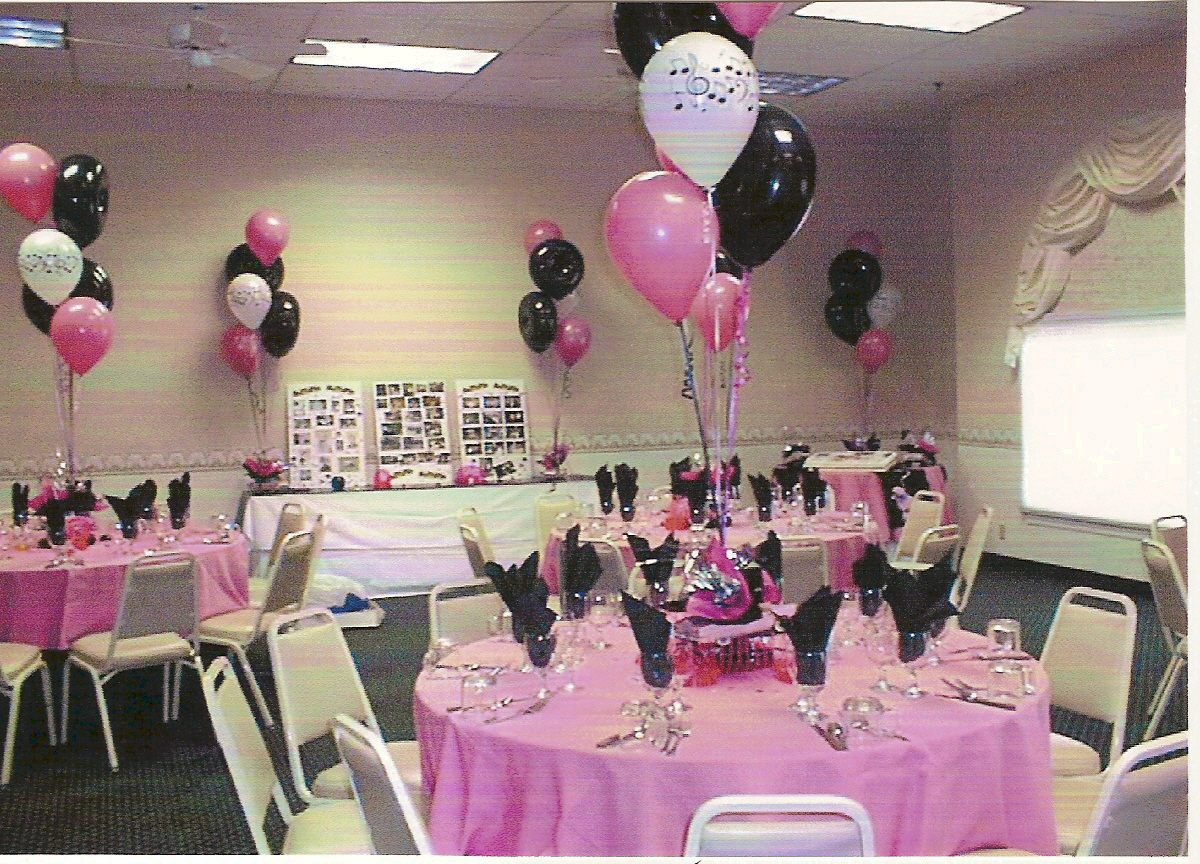 Balloon centerpieces party favors ideas for 50s party decoration ideas